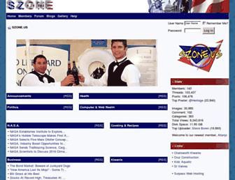 Main page screenshot of szone.us