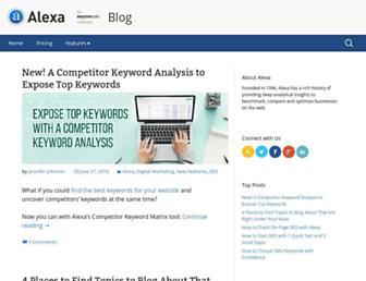 blog.alexa.com screenshot
