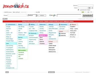 Main page screenshot of domovska.cz