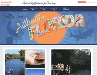 authenticflorida.com screenshot