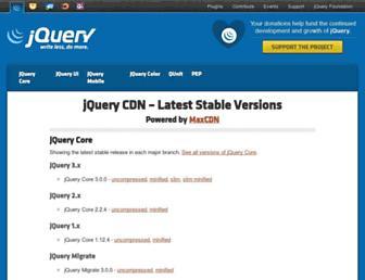 code.jquery.com screenshot