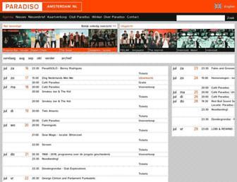 paradiso.nl screenshot