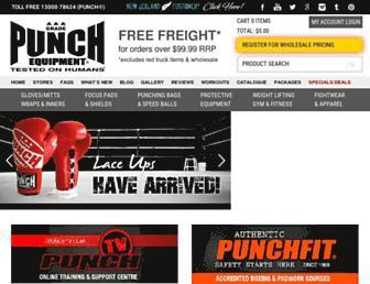 punchequipment.com screenshot