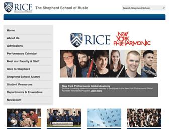 music.rice.edu screenshot