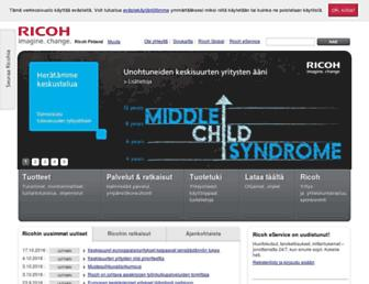 Main page screenshot of ricoh.fi