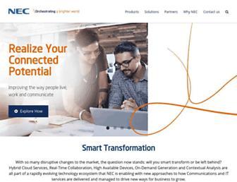 nec-enterprise.com screenshot