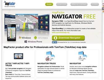 navigatorfree.mapfactor.com screenshot