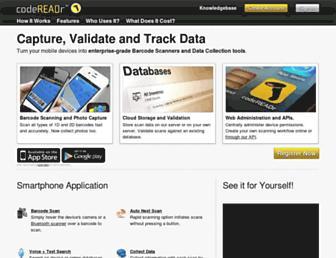 codereadr.com screenshot