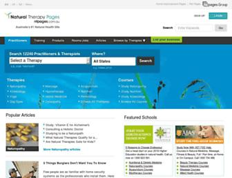 Thumbshot of Naturaltherapypages.com.au
