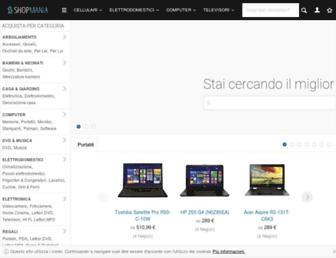 Main page screenshot of shopmania.it