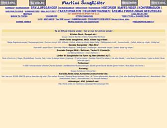 Main page screenshot of allsang.net