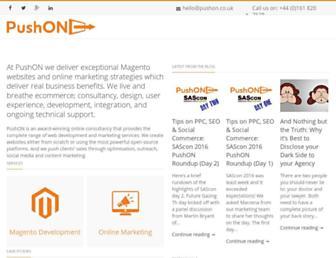 pushon.co.uk screenshot