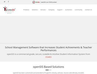 opensis.com screenshot