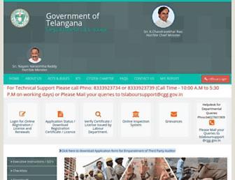 labour.telangana.gov.in screenshot
