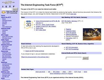 ietf.org screenshot