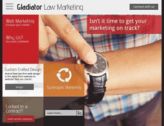 gladiatorlawmarketing.com screenshot