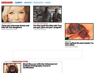 Main page screenshot of boingboing.net
