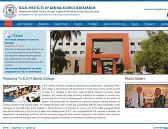ksrdentalcollege.org screenshot
