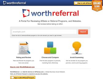 Thumbshot of Worthreferral.com