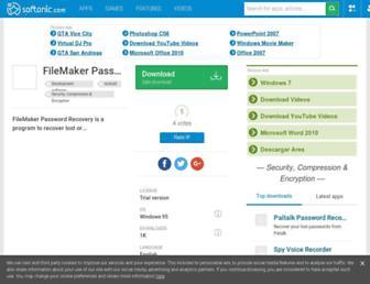 filemaker-password-recovery.en.softonic.com screenshot