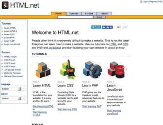 Main page screenshot of html.net