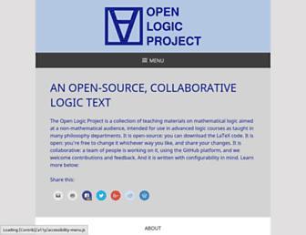 openlogicproject.org screenshot