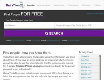 thatsthem.com screenshot