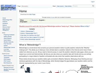 meteobridge.com screenshot