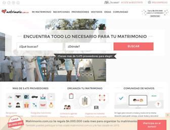 matrimonio.com.co screenshot