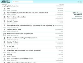 comp.lang.basic.visual.misc.narkive.com screenshot