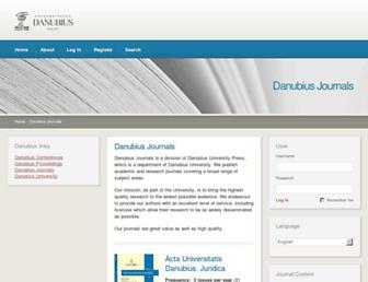 journals.univ-danubius.ro screenshot
