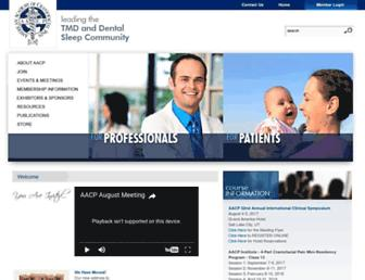 Main page screenshot of aacfp.org