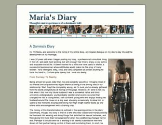 mariasdiary.com screenshot