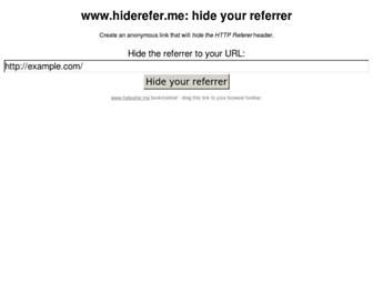 Thumbshot of Hiderefer.me