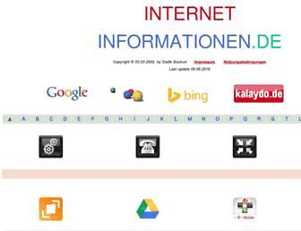 Main page screenshot of internetinformationen.de