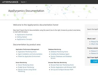 docs.appdynamics.com screenshot