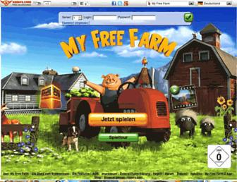 Main page screenshot of myfreefarm.de
