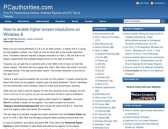 pcauthorities.com screenshot