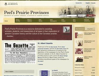 peel.library.ualberta.ca screenshot