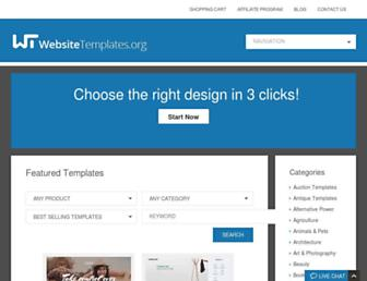Main page screenshot of websitetemplates.org