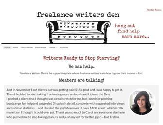 Thumbshot of Freelancewritersden.com