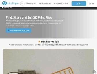 pinshape.com screenshot
