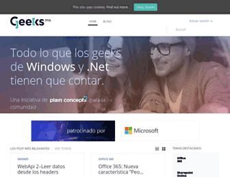 Main page screenshot of geeks.ms
