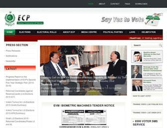 Thumbshot of Ecp.gov.pk