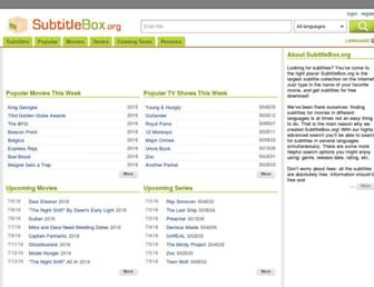 Thumbshot of Subtitlebox.org