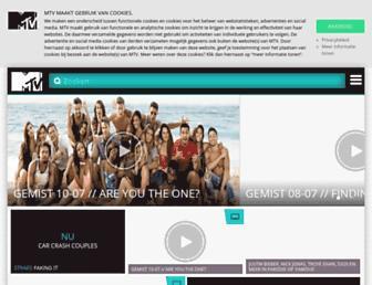 Main page screenshot of mtv.nl
