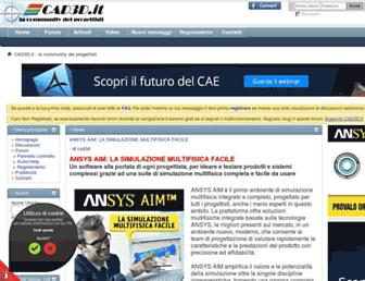Main page screenshot of cad3d.it