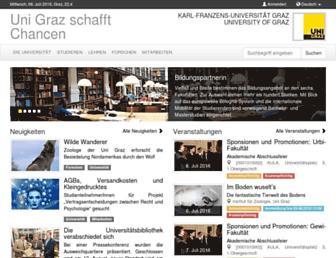 Main page screenshot of uni-graz.at