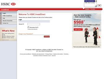invest.hsbc.ca screenshot