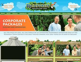 rainforestadventuregolf.ie screenshot